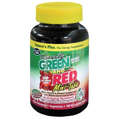 Source Of Life Green And Red Mini Tabs - 180 - (Life Red Multivitamin)