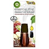 Air Wick Essential Mist Fragrance Oil Diffuser Refill, Cinnamon & Apple Crisp, 1ct (Pack of 6)