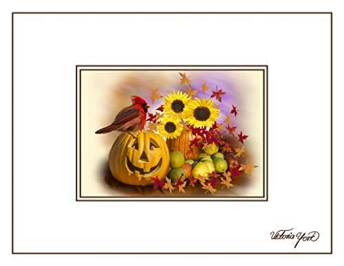 Fine Art Note Card: Fall Garden Scene (Item # 08-040-03) ()