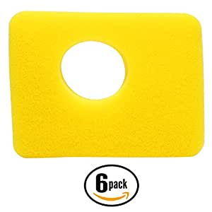 6-Pack Replacement Briggs & Stratton 09P602-0046-H1 Engine Air Cleaner Foam Filter - Compatible Briggs & Stratton 799579 Filter