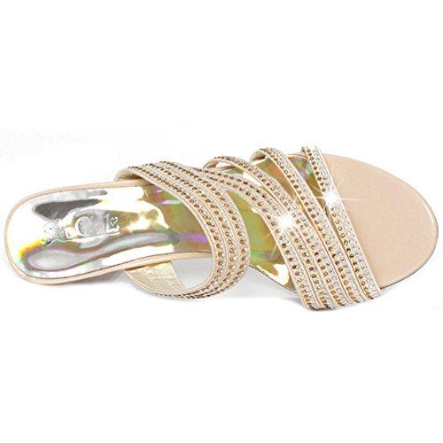 Talons Gold Sandales Femmes Petit AicciAizzi 1wPHSP
