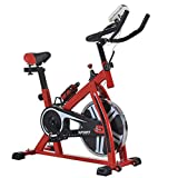 Cheap Nexttechnology Exercise Bike Stationary Bicycle Home Fitness Gym Cycle Indoor Workout Equipment with HD LCD Display (868 Red)