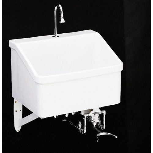 Kohler K-12793-0 Hollister Utility Sink with Single-Hole Faucet Drilling, White