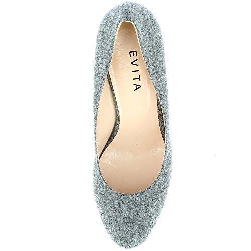 gris ShoesBIANCA caño Mujer Evita medio xqX6wzI