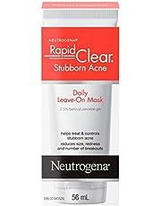 Neutrogena Acne Face Mask, Daily Blackhead Remover Mask with Benzoyl Peroxide, 56 mL
