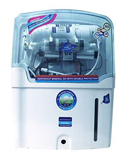 Kentofast K 14 Water Purifier RO+UV+Uf+Alkaline+Tds Technology (White) 12 Ltr Free Pre-Filter Wroth...