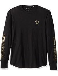 Men's Long Sleeve Distorted Logo Tee