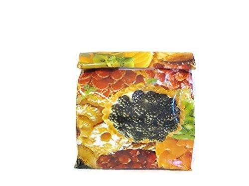 Fruit-Tart-Oilcloth-Lunch-Snack-Bag-Doggie-Sack-Dessert-Reusable-Vegan