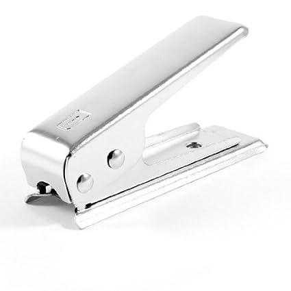 Amazon.com: eDealMax tono de Plata Nano tarjeta Sim cortador ...