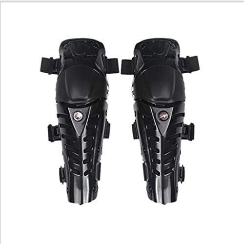 LilyAngel オートバイの膝パッド大人の通気性調節可能なアラミド繊維モトクロスMTB新ガードサイクリングスケーティング (Color : ブラック)