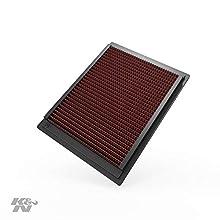 K&N 33-2305 Filtro de Aire Coche, Lavable y Reutilizable