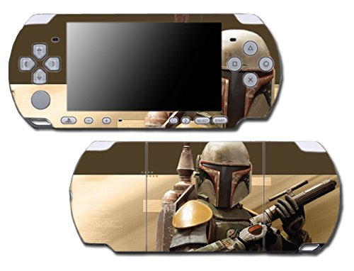 Star Wars Boba Jango Fett Bounty Hunter Comic Video Game Vinyl Decal Skin Sticker Cover for Sony PSP Playstation Portable Slim 3000 Series System