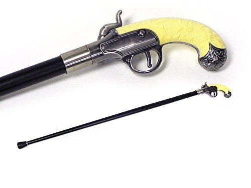 KN-1192X ANTIQUE GUN CANE