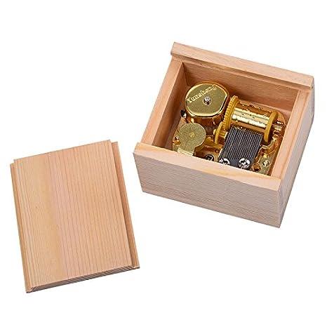 Caja de música, caja de música DIY en bois. C Est cartón de