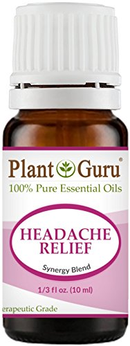 Headache Relief Synergy Essential Oil Blend (Migraine) 10 ml 100% Pure, Undiluted, Therapeutic Grade. (Blend Of: Lavender Dalmatia, Peppermint, Wintergreen, Frankincense, Marjoram, Rosemary)