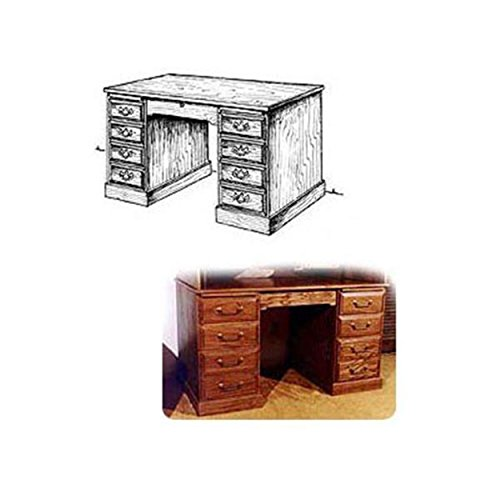 Woodworking Project Paper Plan to Build Roll Top Desk (Lower Portion)