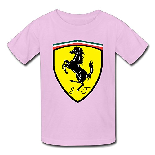 Ferrari Logo Youth's T-Shirt Pink (Race Use Coupe)