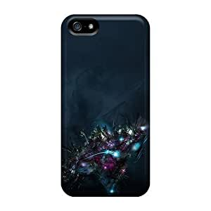 Awesome OJEOaTm4653FBhrD MeSusges Defender Tpu Hard Case Cover For Iphone 5/5s- Dark Space War