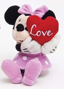 Mickey Mouse TOY JOY 900 262 - Peluche de Minnie Mouse con corazón (20 cm) [Importado de Alemania] (Joy Toy)