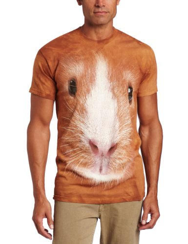 (The Mountain Guinea Pig Face Adult T-Shirt, Brown,)