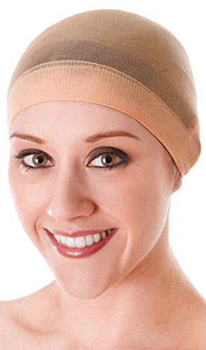 Ladies Fancy Dress Party Accessory Bald Hair Net Stretchable Stocking Wig Cap