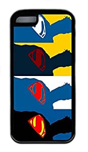 iPhone 5C Case, iPhone 5C Cases - Durable Protective Black Soft Rubber Back Case for iPhone 5C 4 Superman Utral Slim Soft Back Bumper Case for iPhone 5C