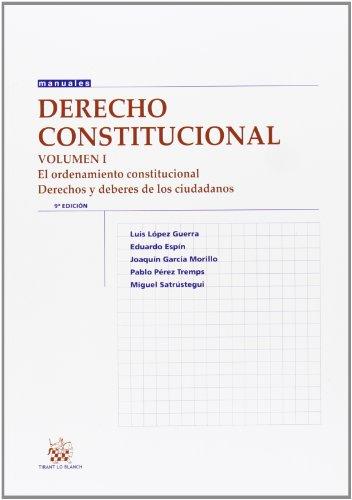 Descargar Libro Derecho Constitucional Vol. I 9ª Ed. 2013 Luis López Guerra