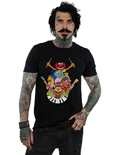 Disney Men's The Muppets Dr Teeth and The Electric Mayhem T-Shirt Black XX-Large