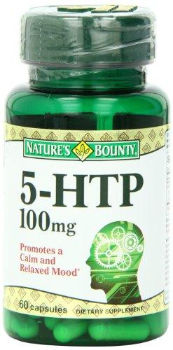 Bounty Natural 5-HTP / L-5-hydroxytryptophane, 100mg de la nature, 60 capsules