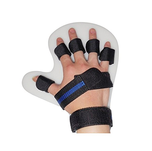 (Lolicute Finger Training Device,Stroke Rehab Equipment Finger Orthotics Fingerboard Stroke Hemiplegia Finger Orthotics Points for Stroke/Hemiplegia/Traumatic Brain Injury (Black,Right Hand))
