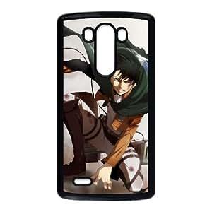 Levi Attack On Titan Funda LG G3 Funda caja del teléfono celular Negro T5T8PH Unique Custom caja del teléfono celular