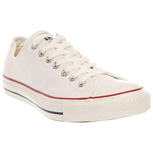 (Converse Unisex Chuck Taylor All Star Low Top White Sneakers - 5.5 D(M))