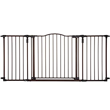 NorthGate SuperGate Deluxe Decor Gate, Bronze, Fits Spaces between 38.3 to 72 Wide and 30high