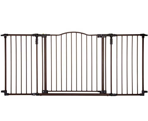 Supergate Deluxe Décor Gate, Bronze, Fits Spaces between 38.3