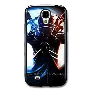 Sword Art Online Z4Q6LV2O Caso funda Samsung Galaxy S4 Caso funda Negro