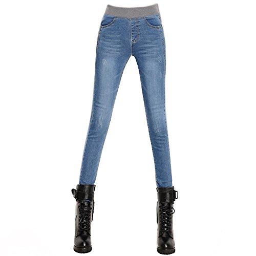 azul E para mujer STORE skinny Vaqueros claro 369 TgHxTY