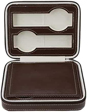 f555aa8d7 4 Grids Pu Leather Watch Box Travel Watch Bag Watch Storage with Zipper  Case Organizer Bag
