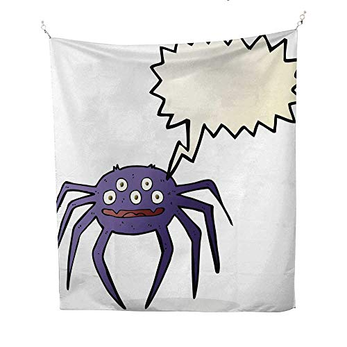 25 Home Decor Tapestries Cartoon Halloween Spider with Speech Bubble dope Tapestries 60W x 91L -