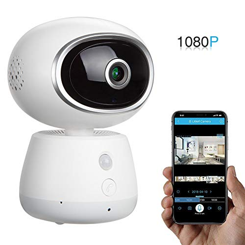 Wireless IP WiFi Surveillance Security Camera - Omngin 1080P Home Indoor Baby/Pet Monitor Camera with 2 Way Audio, Night Vision, Passive Infrared Motion Detector, Pan/Tilt/Zoom, Panorama Navigation - Infrared Monitor