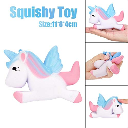 (Squishes Toys , Elevin(TM) Kawaii Squeeze Squishy Slow Rising Jumbo Giant Scented Cartoon Cute Star Unicorn Stress Reliever Toy (A))
