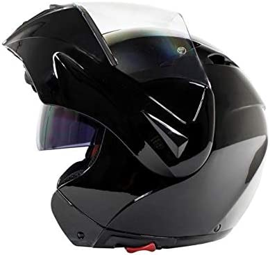 Casque modulable noir brillant s55-56cm