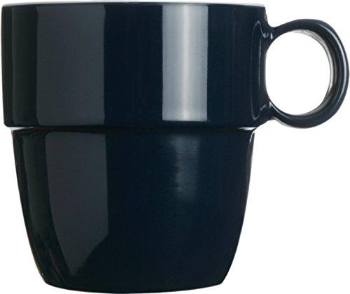Columbus Proof - MB Coastal Designs Columbus Nautical Shatter Proof Mug, Navy Blue/White, Set of 6