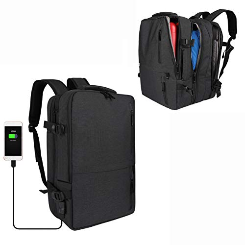 Travel Laptop Backpack,Beibeiqiqi 30L Flight Approved Carry on Bag,Anti Theft Expandable Business Briefcase for 15.6