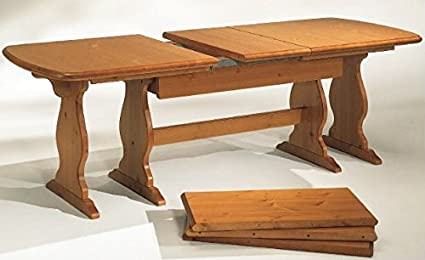 Tavoli Allungabili In Legno Arte Povera.Arredamenti Rustici Tavolo Fratino Allungabile Da 190 A 370 In