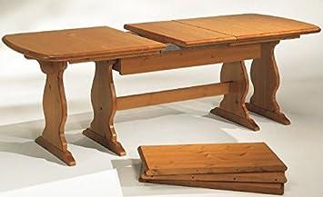 tavolo fratino allungabile da 190 a 370 in legno massello- grezzo ... - Tavolo Legno Massello Allungabile Usato