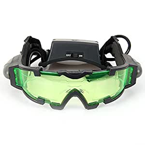 Floureon JYW-1312 Outdoor Help Night Vision Goggles Glasses with Flip Out LED Light