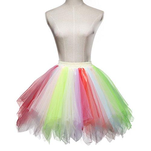 Classique 19 Ballet Party Jupe Vintage Annes Bubble Mix Couches Tulle Tutu ONECHANCE Jupe Petticoat 50 q6nHCdqxw
