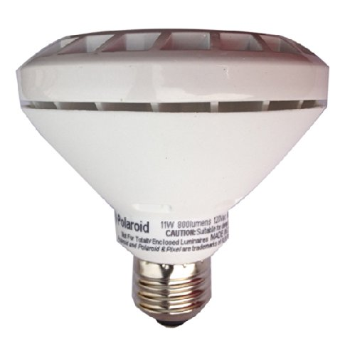 Polaroid Lighting PLPAR30S-75.800.11.2D 75-watt Equivalent 800-Lumen PAR30 Dimmable LED Light Bulb, - Polaroid Usa