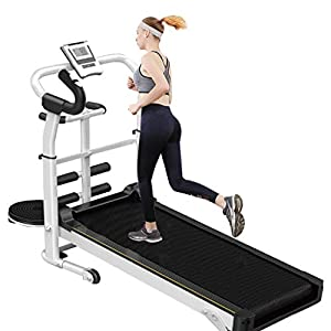 Well-Being-Matters 41Zv%2B9UtbZL._SS300_ OKBOP Folding Manual Treadmill for Home, Multifunction Mini Portable Foldable Compact Treadmills Machine for Small Space…