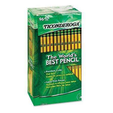 Dixon Ticonderoga Woodcase Pencil, HB #2, Yellow Barrel, 96/Pack